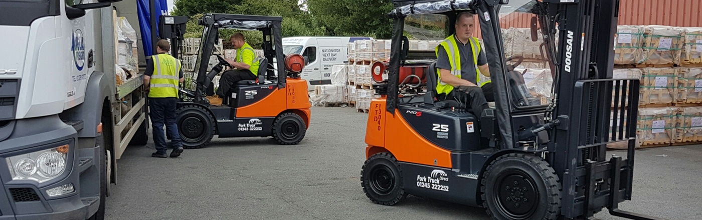 Two forklift trucks that have been hires and sold in Suffolk and Essex