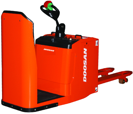 Doosan ride on electric pallet truck