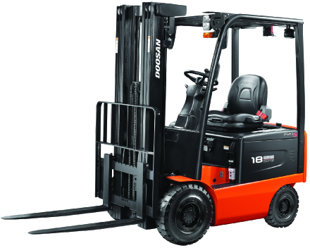 Doosan-B15-20X-5 fork truck, a series 5 fork truck available to buy and to hire in Essex and Suffolk. Electric Forklifts for hire from the experts at Fork Truck Direct based in Essex. The number one distributor for all companies looking to hire electric forklifts.
