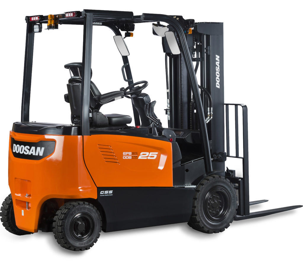 Doosan D40-55C-7 fork truck, a series 7 fork truck for sale and for hire in Essex and Suffolk