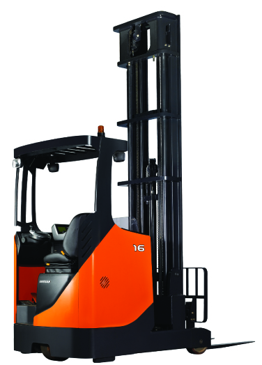 Doosan BR16JW series 7 fork truck presentation image. It can be offered as a forklift for sale or as a forklift for hire in Suffolk and Essex.