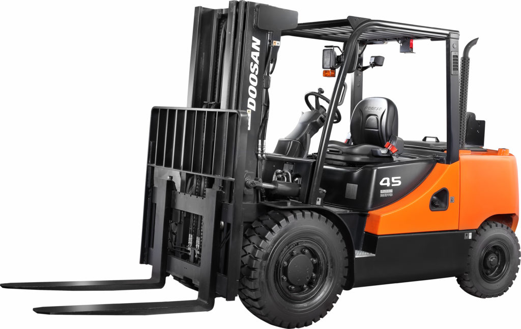 Doosan D40-55C-7 fork truck, a series 7 fork truck commercialised mainly in Suffolk and Essex