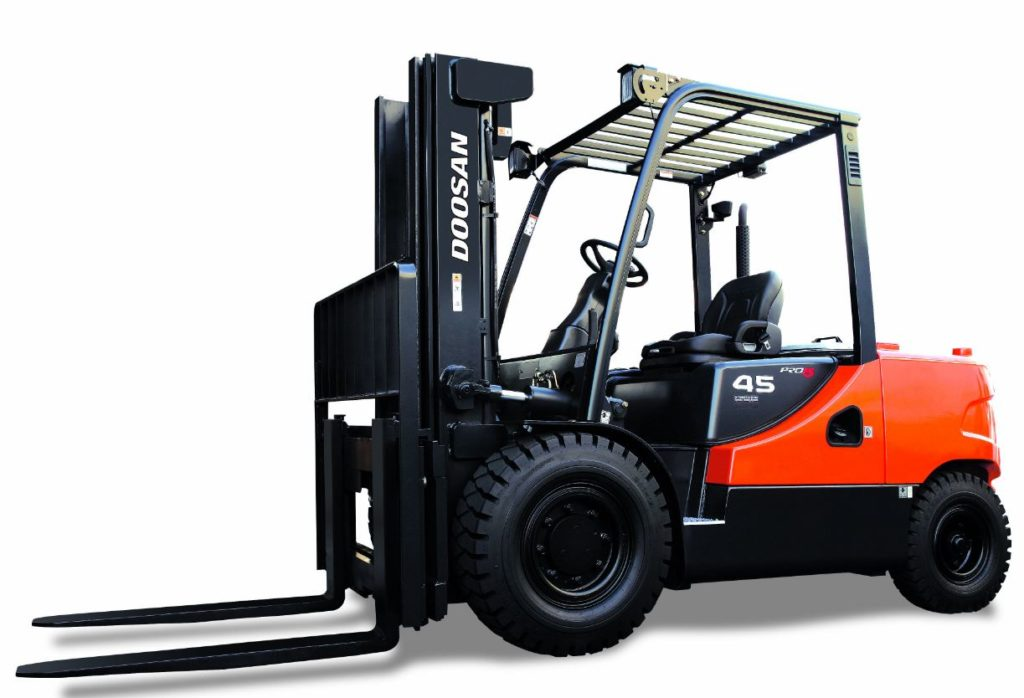Doosan DG40-50SC-5, another series 5 fork truck mainly sold / hired in Essex and Suffolk