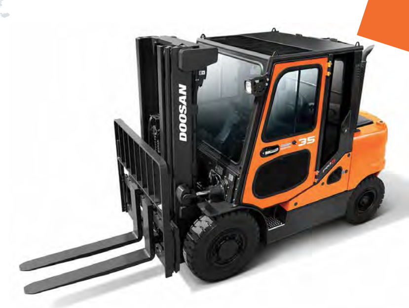 Doosan Forklifts available for Hire and for purchase from industry experts fork truck direct. 4 wheeled forklifts from Doosan.