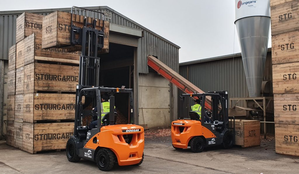 Doosan forklifts in action at Stourgarden Colchester